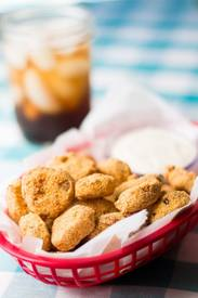 Sweet & Spicy Fried Pickles!