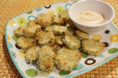 Easy Oven Fried Pickles!