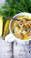 Dill Pickles & Brat Soup!