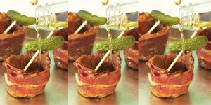 Chocolate Bacon Pickleback Shots!