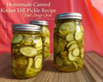 Homemade Canned Dill Pickles!