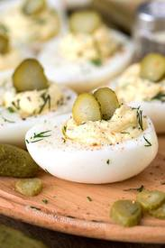 Dill Pickle Deviled Eggs!