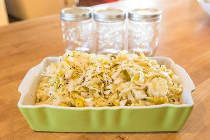 Cracked Pepper Leek Sauerkraut!