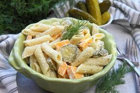 Dill Pickle Pasta Salad!