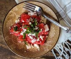Watermelon Feta Pickle Daikon Salad!