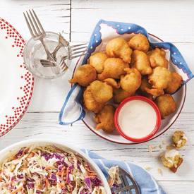 Spicy Pickle Hush Puppies!