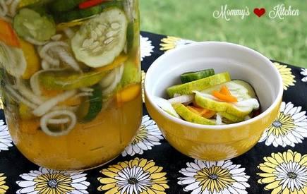 Refrigerator Sweet Pickles!