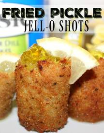 Fried Pickle Jello Shots!