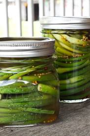 Pickled Garlic Scapes!