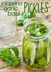 Jalapeno Garlic Basil Pickles!