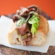 TASTY TUESDAY!! Flat Iron Steak Sandwich with Pickle Butter!!