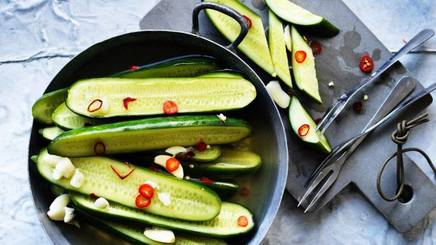 Garlic Pickled Cucumbers!