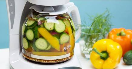 Coffee Maker Pickles!