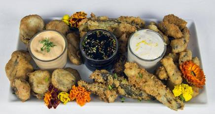 Delectable Fried Pickle Platter!