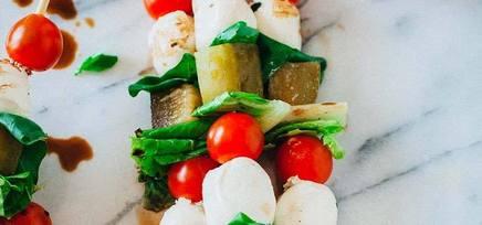 Pickle Caprese Salad Kebabs!