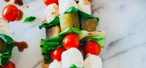 Pickle Caprese Salad Kebabs!