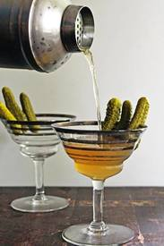 Dill Pickle Vodka Martini!