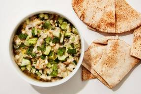 Roasted Eggplant And Pickle Dip!