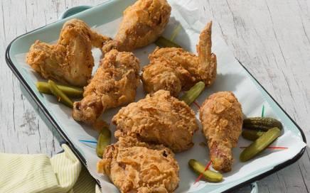 Pickle Juice Buttermilk Fried Chicken!