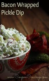 Bacon Wrapped Dill Pickle Dip!