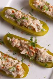 Tuna Salad Pickle Boats!