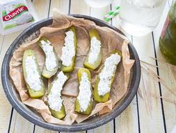 Cheese Stuffed Dill Pickles!