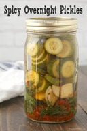 Spicy Overnight Pickles!