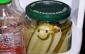 Wacky Wednesday! Smiley Pickle Jar:)
