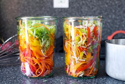 Pickled Vegetable Sandwich Slaw!