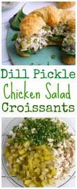 Dill Pickle Chicken Salad Croissants!