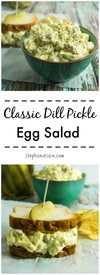 Dill Pickle Egg Salad!