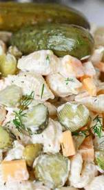 Dill Pickle Pasta Salad!