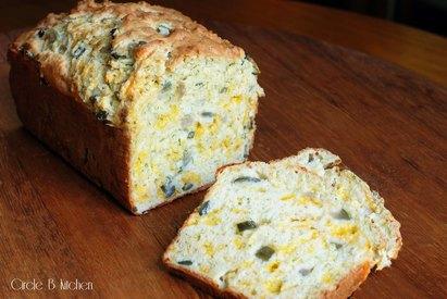 Cheesy Dill Pickle Bread!