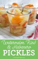 Watermelon Rind & Habanero Pickles!