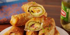 Pickle & Bacon Egg Rolls!