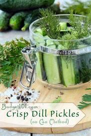 Overnight Crisp Dill Pickles!