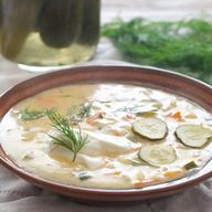15 Minute Dill Pickle Soup!