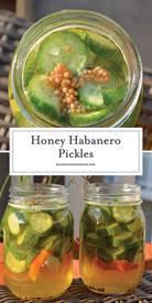 Honey Habanero Pickles!