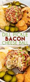 Dill Pickle Bacon Cheeseball!