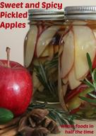Sweet & Spicy Pickled Apples!