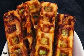 Fried Pickle Chaffle Sticks!