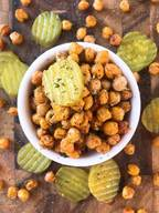 Dill Pickle Roasted Chickpeas!