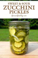 Sweet & Sour Zucchini Pickles!